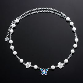 White Pearl Butterfly Chain