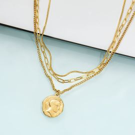 Women's Assorted Coin Layered Necklace