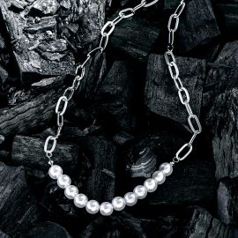 Women's Stitching Pearl Necklace