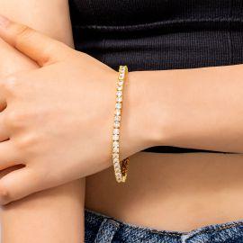 Women's 4mm Tennis Bracelet in Gold