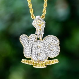 """Iced """"Young Black & Gifted"""" Pendant"""