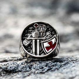 Knights Templar Crusader Stainless Steel Ring