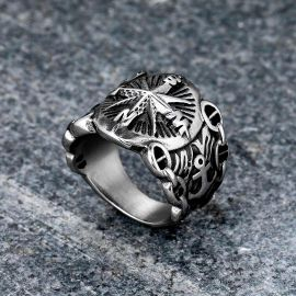 Northern Compass Marine Stainless Steel Ring