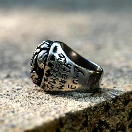 Seven Deadly Sins  Brain Stainless Steel Ring