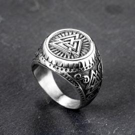 Odin Valknut Viking Stainless Steel Ring