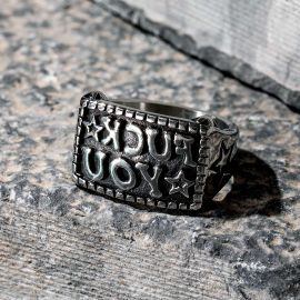 """""""Fuck you"""" Mirror Effect Stainless Steel Ring"""