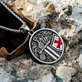 Knights Templar Crusader Stainless Steel Pendant