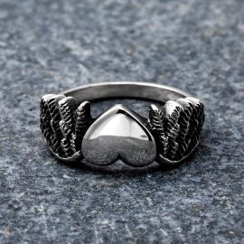 Simple Heart Stainless Steel Ring