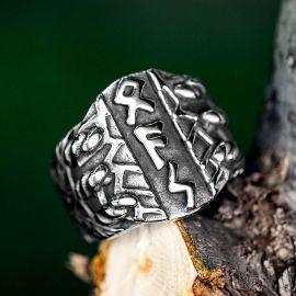 Viking Runes Amulet Stainless Steel Ring