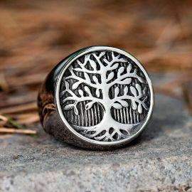 Viking Tree of Life Stainless Steel Ring