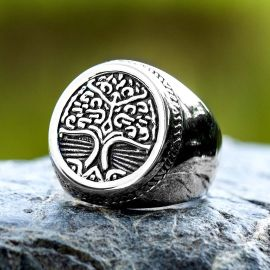 Tree of Life Viking Stainless Steel Ring