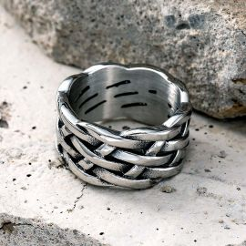Celtic Knot Stainless Steel Ring