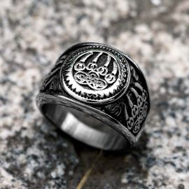 Viking Bear Claw Stainless Steel Ring