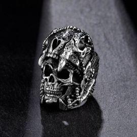 Indian Jaguar Skull Stainless Steel Ring