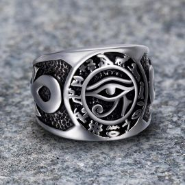 Ankara Eye of Horus Stainless Steel Ring