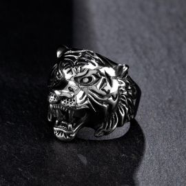 Bengal Tiger Stainless Steel Ring