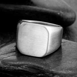 Classic Square Stainless Steel Ring