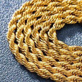 4mm Rope Chain in Gold