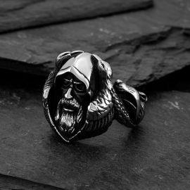 Mythology Odin Wolf Stainless Steel Ring