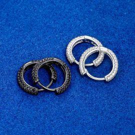 Iced Circle Hoop Earrings