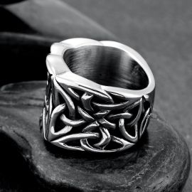 Vintage Celtic Knot Stainless Steel Ring