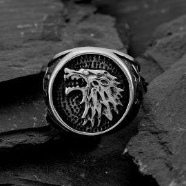 House Stark Direwolf Stainless Steel Ring