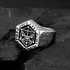 Vegvisir World Tree Stainless Steel Ring