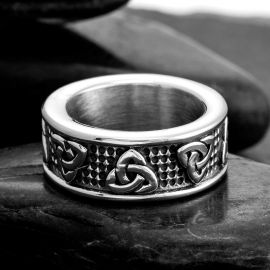 Classic Celtic Knot Brand  Stainless Steel Ring