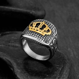 Royal Crown Stainless Steel Ring