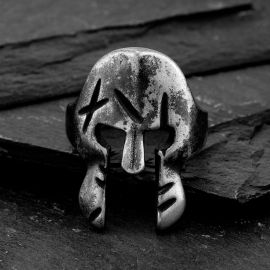 Spartan Mask Stainless Steel Ring