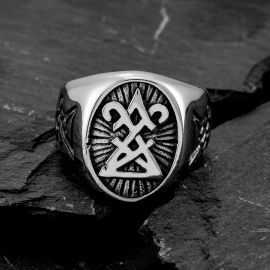 Gothic Sigil of Lucifer Stainless Steel Ring