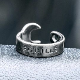 Vintage Wrench Stainless Steel  Ring