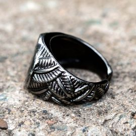 Sun Eagle Totem Stainless Steel  Ring