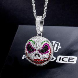 Iced Evil Makeup Face pendant