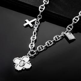 Iced Christian Virgin Mary Necklace