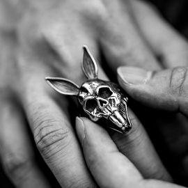 Rabbit Skull Stainless Steel Ring
