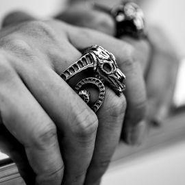 Bighorn Sheep Stainless Steel Ring