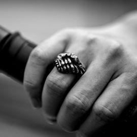 Handshaking Stainless Steel Ring