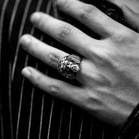 Jesus Christ Cross Stainless Steel Christian Ring