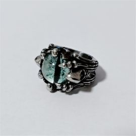 Green Eye of Dragon Stainless Steel Ring