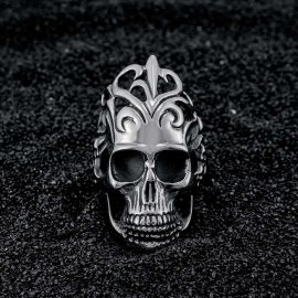 Crown Skull Stainless Steel Ring