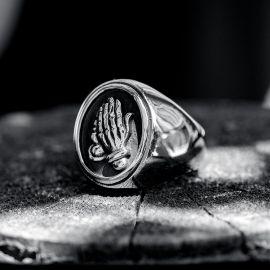 Praying Hands Stainless Steel Ring