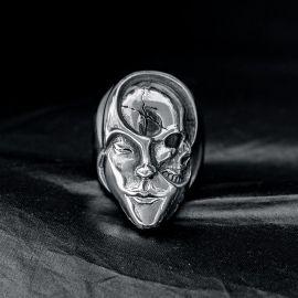 Skull Face Stainless Steel Ring