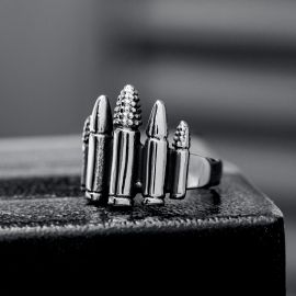 Five bullets Stainless Steel Ring