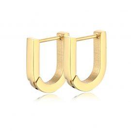 U Shape Hoop Earrings