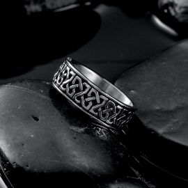 Classic Pattern Stainless Steel Ring