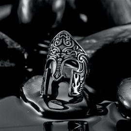 Viking Warrior Spartan Helmet Stainless Steel Ring