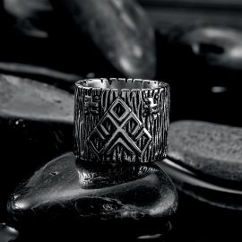 Wide Bands 316 Stainless Steel Ring