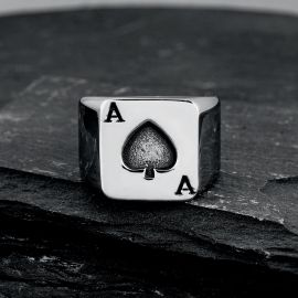 Ace of Spades Stainless Steel Ring