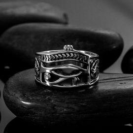 The Eye of Horus  Stainless Steel Ring